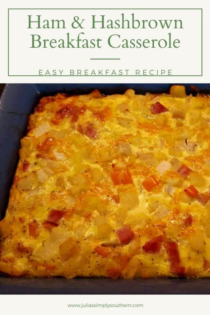 ham & hashbrown breakfast casserole
