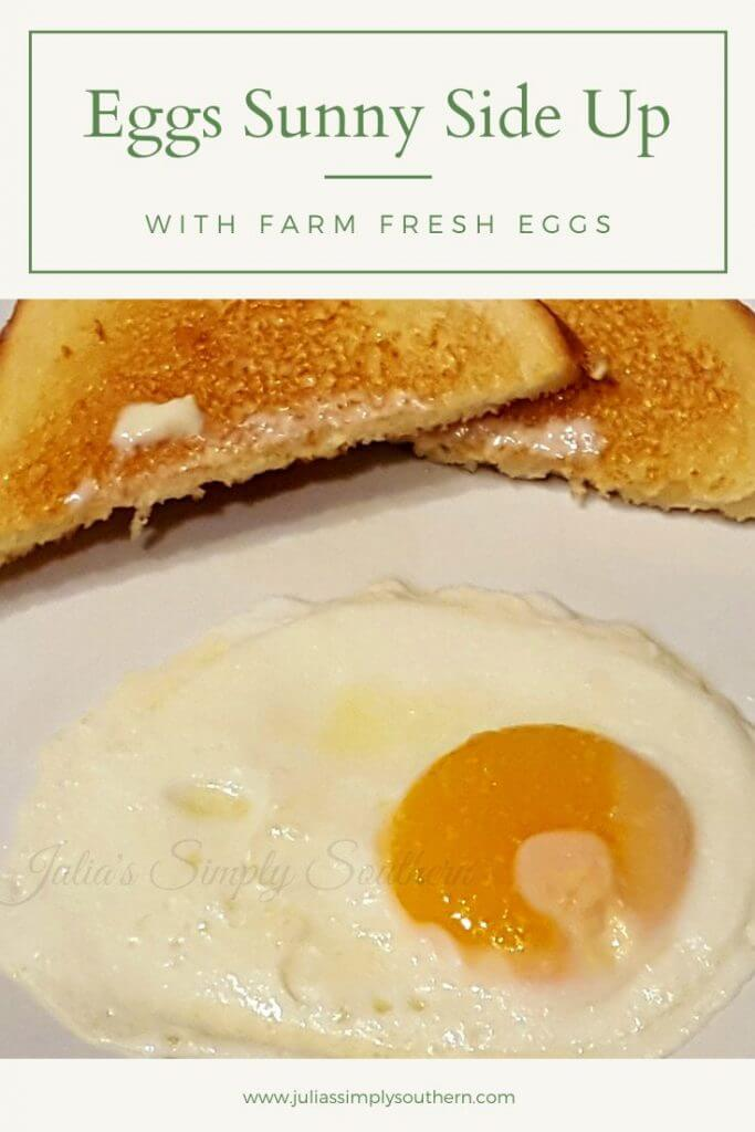Eggs Sunny Side Up breakfast meal