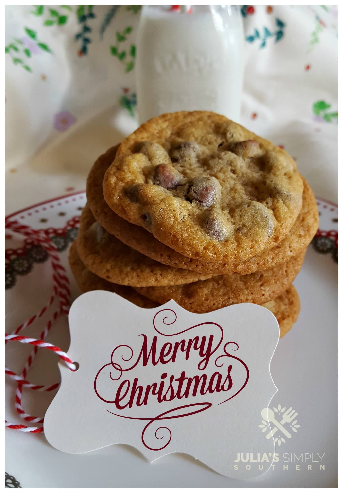 Plate of cookies for Santa - Chocolate Chip