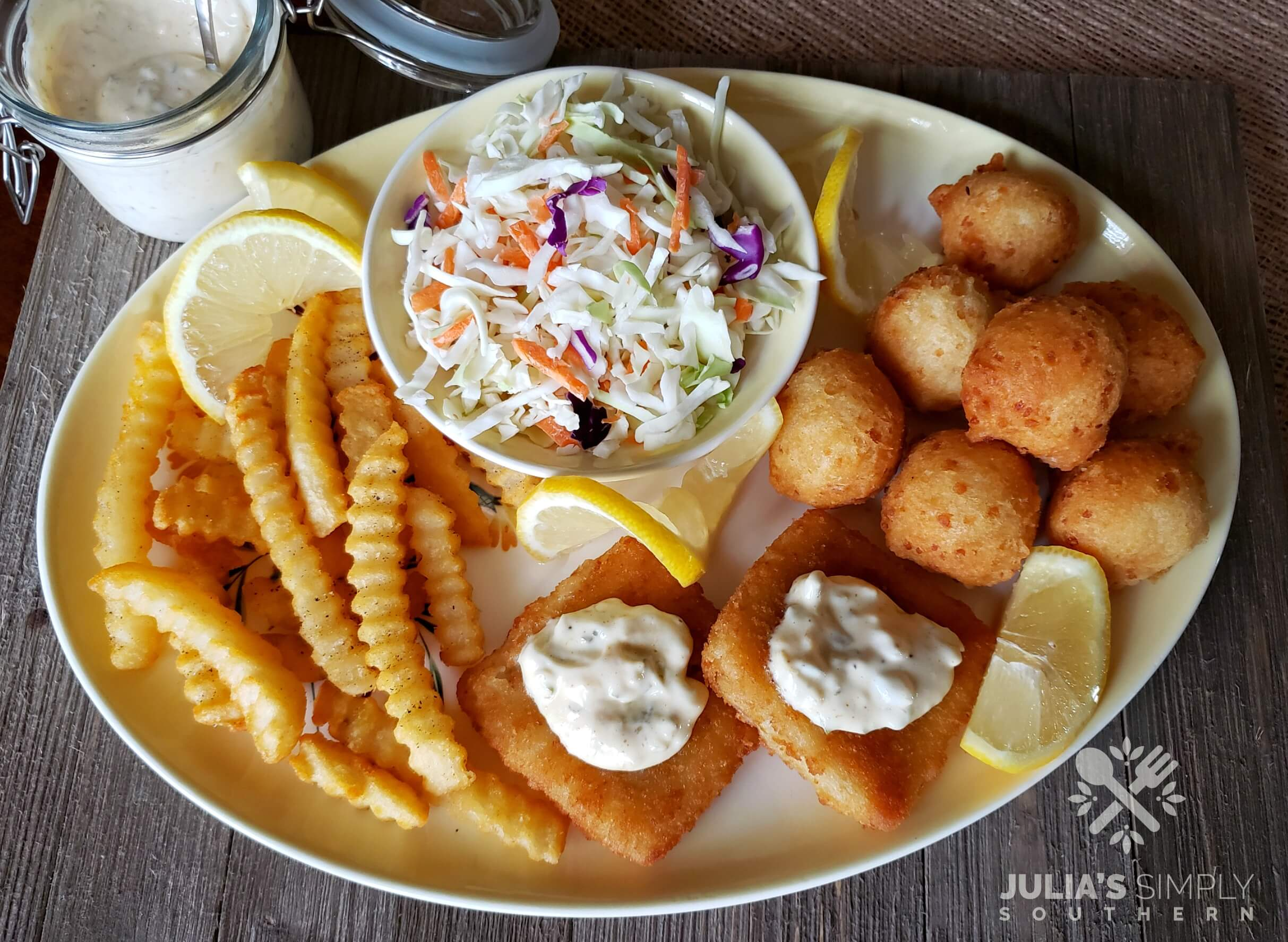 Seafood platter at home