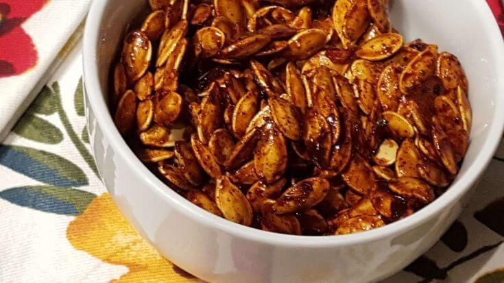 Roasted Honey Spiced Pumpkin Seeds Recipe
