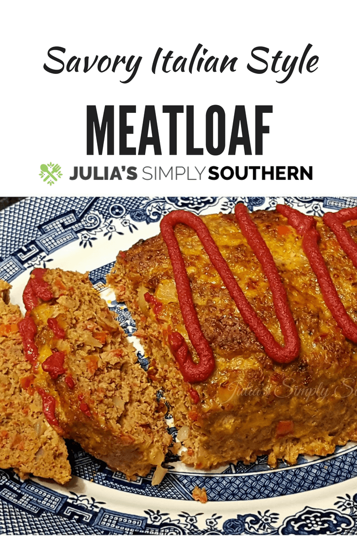 Savory Italian Style Meatloaf with secret ingredient #beef #meatloaf #recipe #delicious