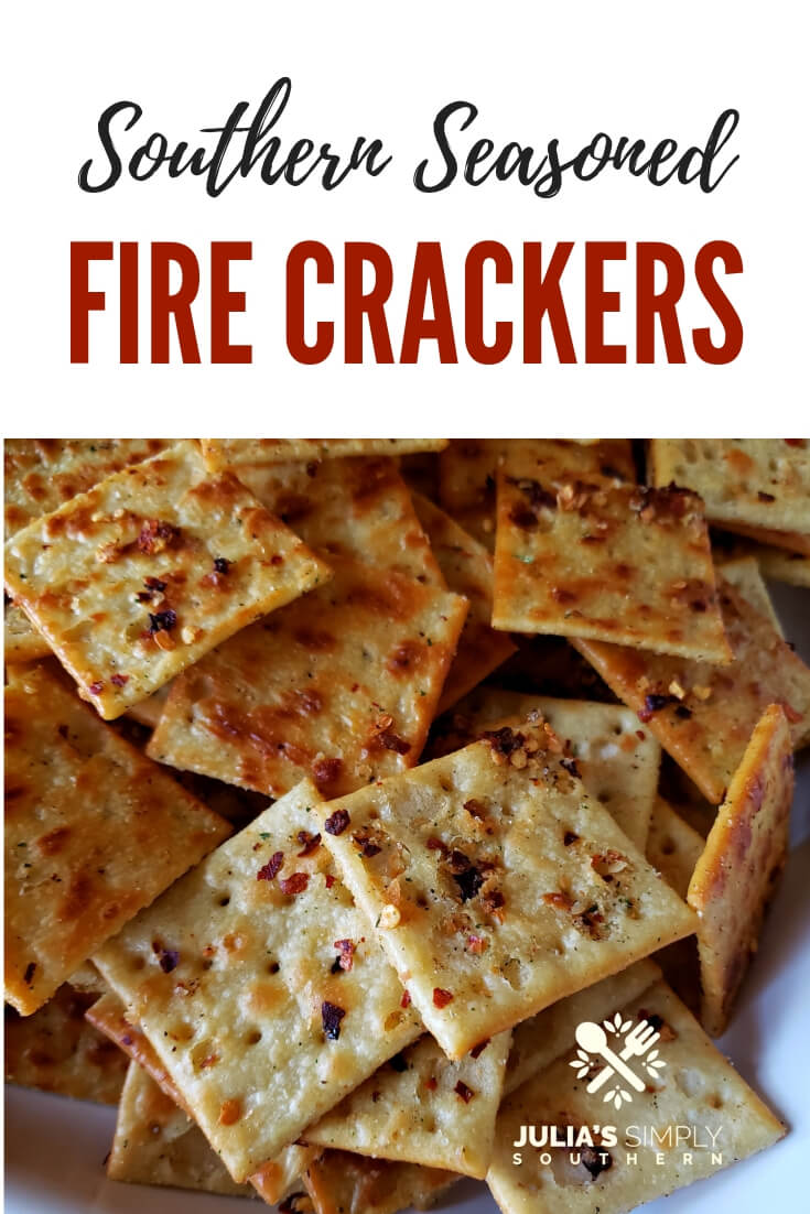 How to make Southern Baked Fire Crackers, also known as Alabama fire crackers or ranch fire crackers. This is a simple party food and can be oven toasted or no bake. They are addictive when served as an appetizer or snack #Firecrackers #Saltines #SeasonedCrackers #EasyAppetizers