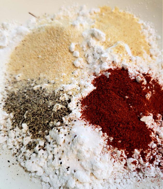 flour and seasonings
