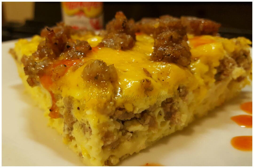 Sausage Egg and Cheese Breakfast Casserole - Julias Simply ...