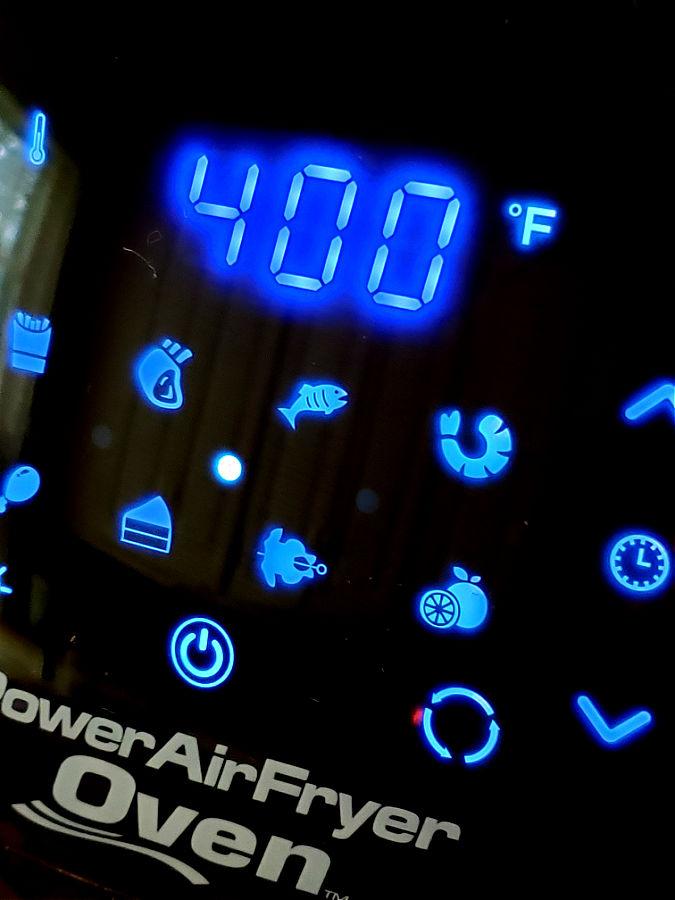 air fryer multi cooker settings panel - power xl