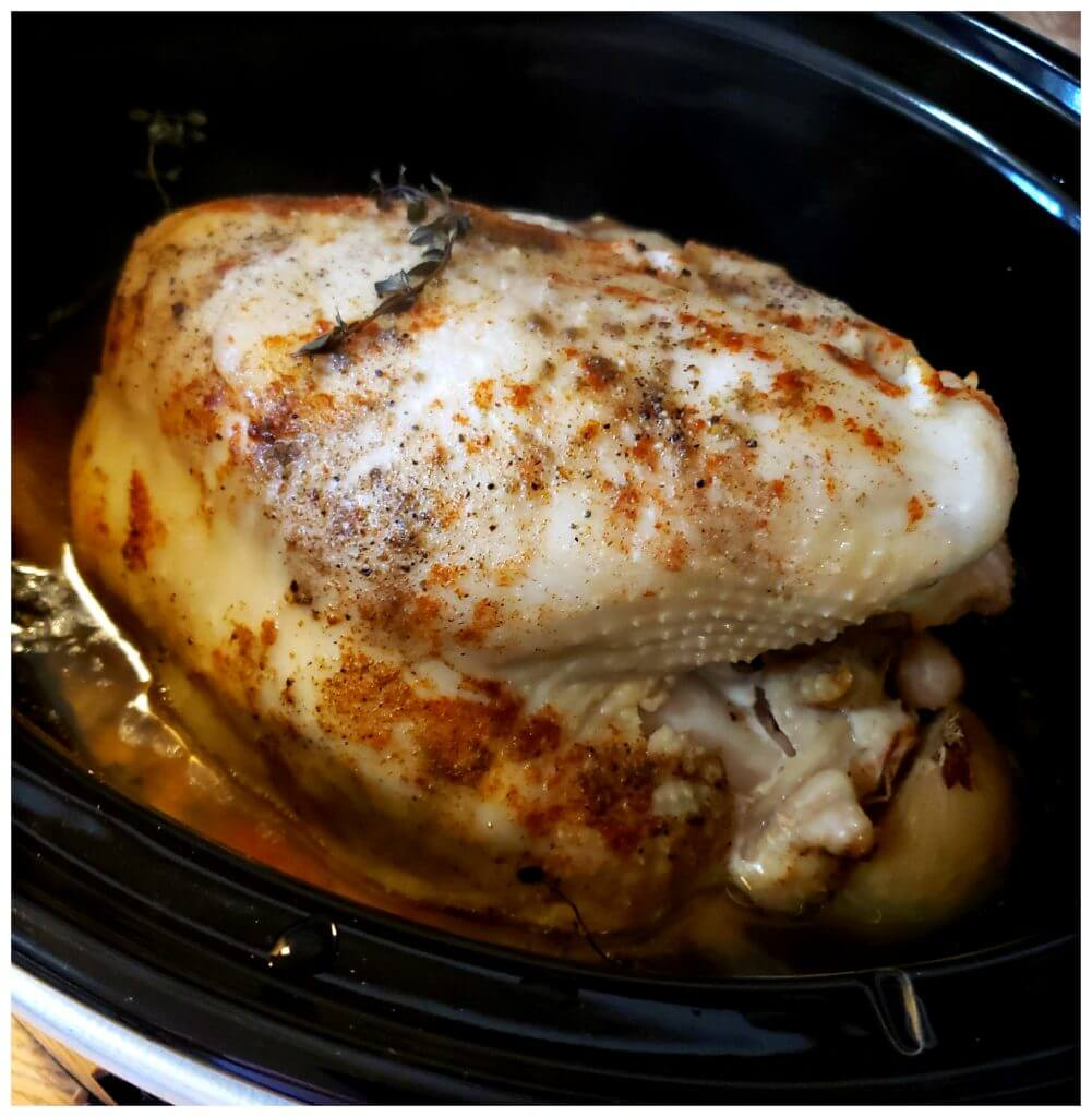 crock pot turkey breast bone in