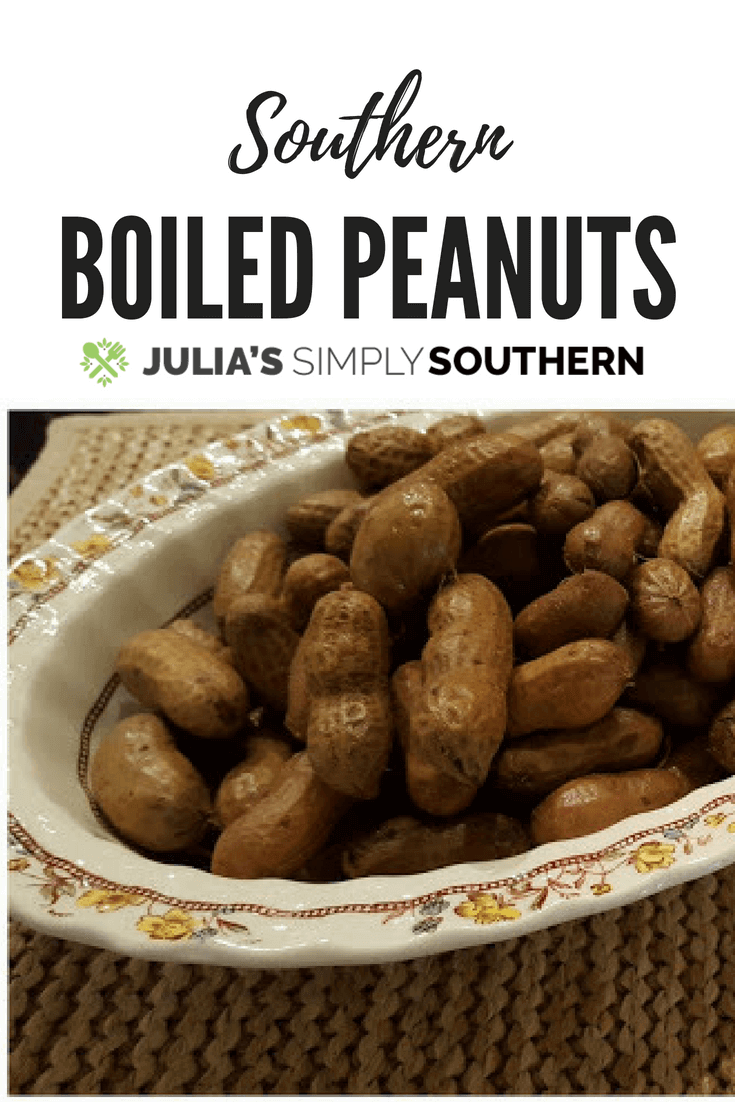 Southern boiled peanuts - the South's favorite snack food