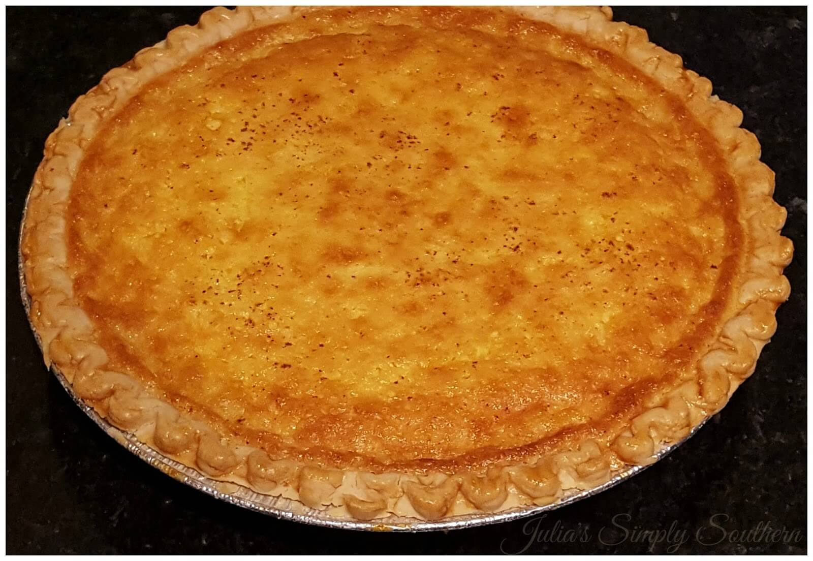 Freshly baked Southern Buttermilk Pie
