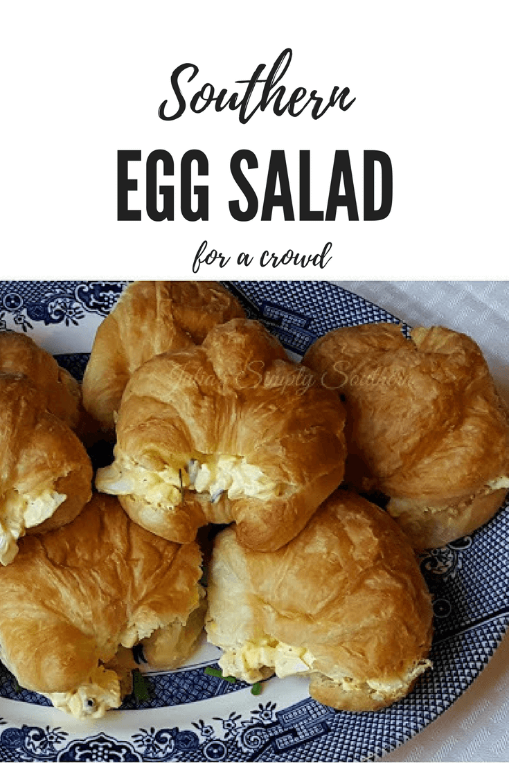 Classic old fashioned Southern Egg Salad for parties and luncheons #easyrecipe #SouthernFood #Sandwiches #eggs