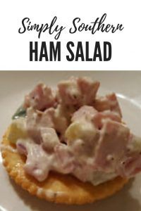 Southern Ham Salad, also known as deviled ham, is a delicious and easy to prepare spread for sandwiches or a topping for crackers #Ham #EasyRecipe