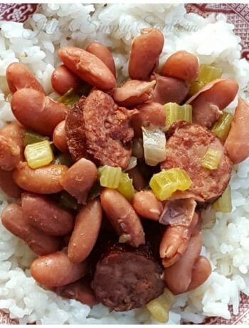 Louisiana Style Southern Red Beans and Rice