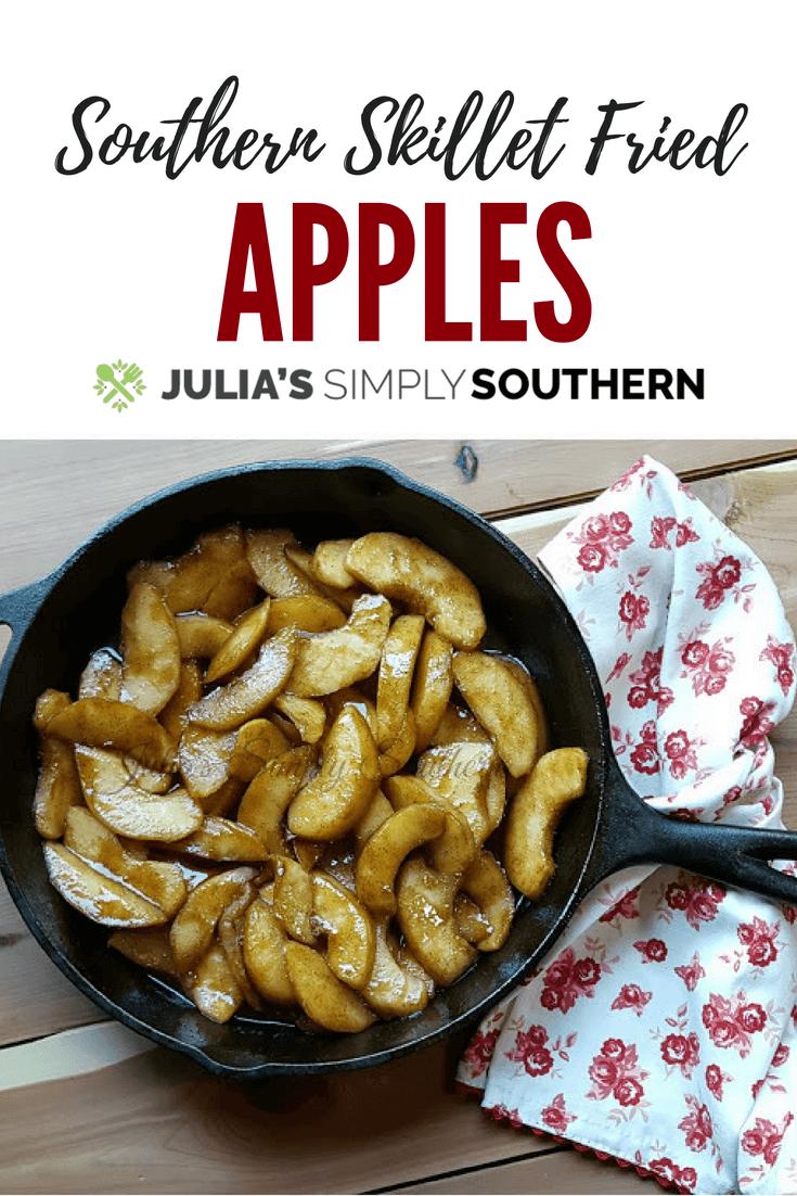 Southern Skillet Fried Apples #sidedish