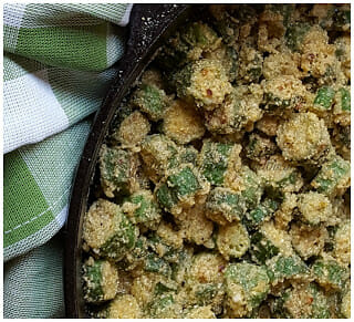 Southern Skillet Fried Okra
