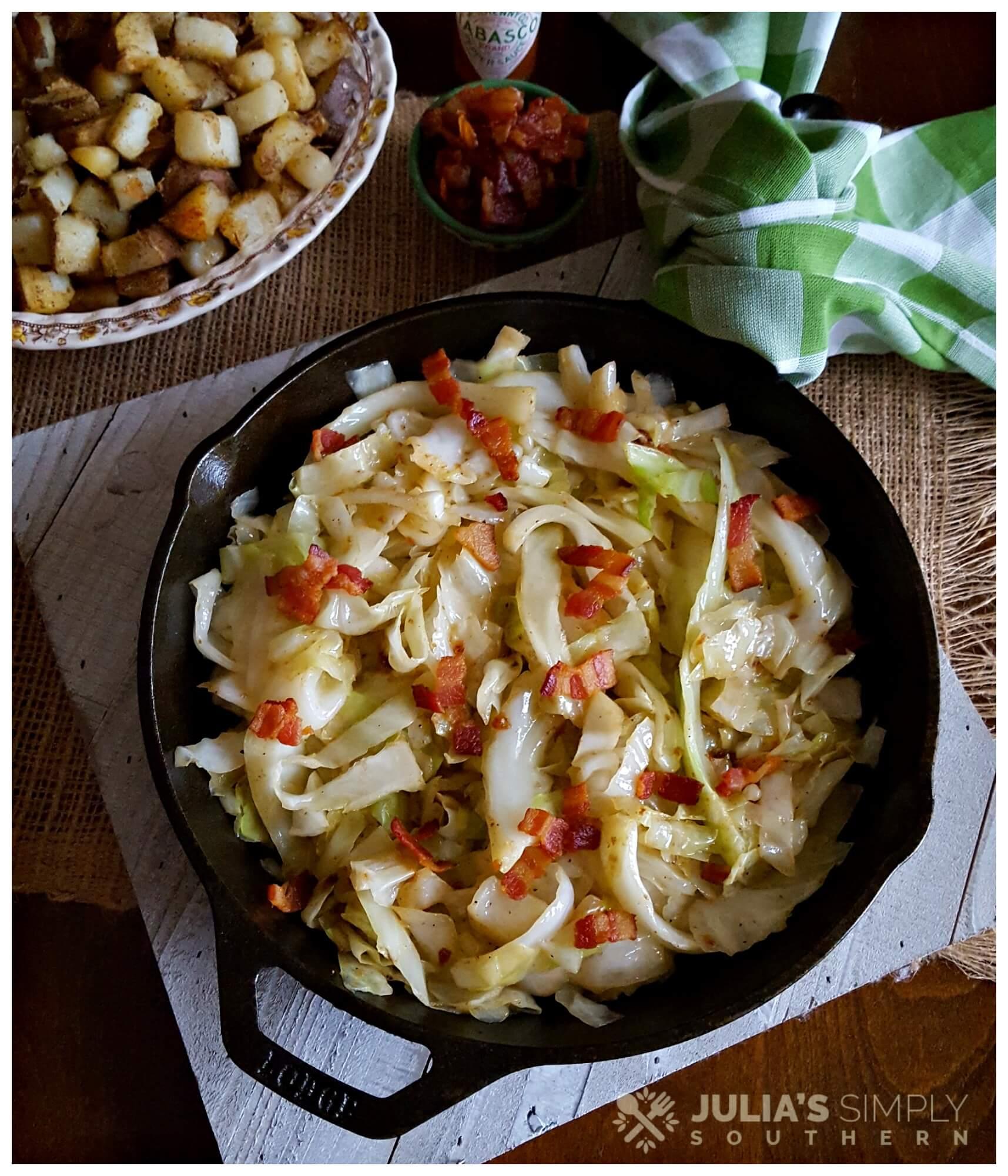 Iron skillet cabbage recipe