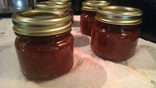 fig preserves in canning jars