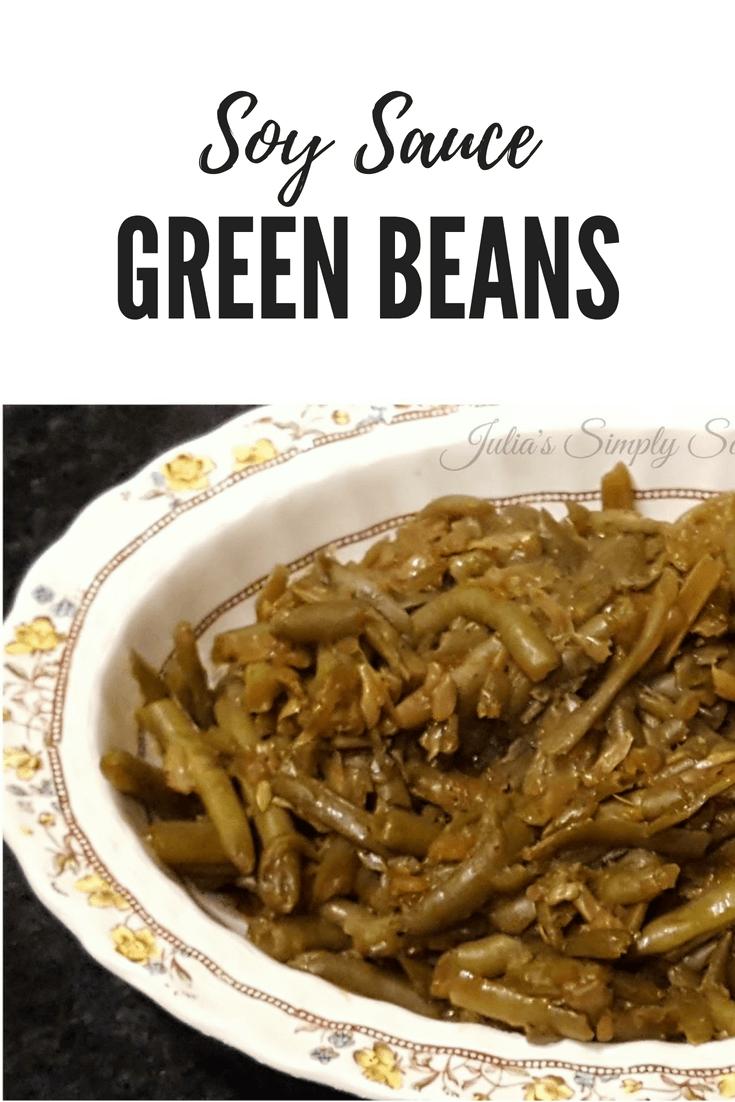 Soy Sauce Glazed Green Beans