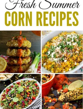 Fresh Summer Corn Recipes - appetizers, side dish, dinner and dessert - ALL using fresh corn on or off of the cob #corn #cornrecipes #summer
