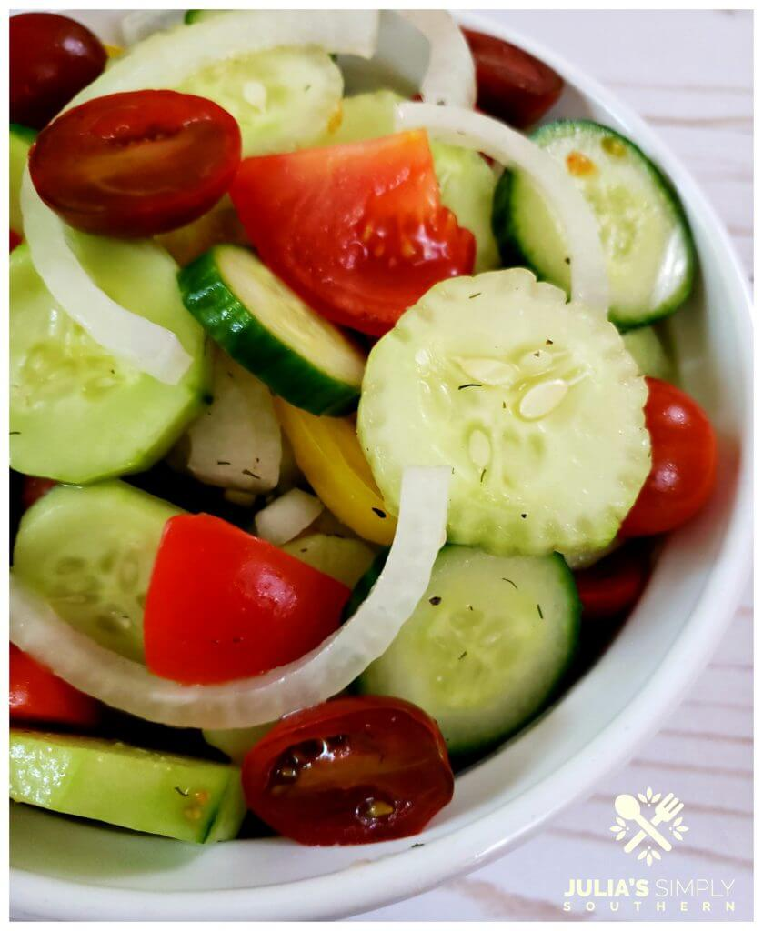 Simple Marinated Cucumber Salad with Tomatoes Salad Recipe
