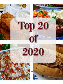 Top 20 Recipes of 2020 at Julia's Simply Southern food blog