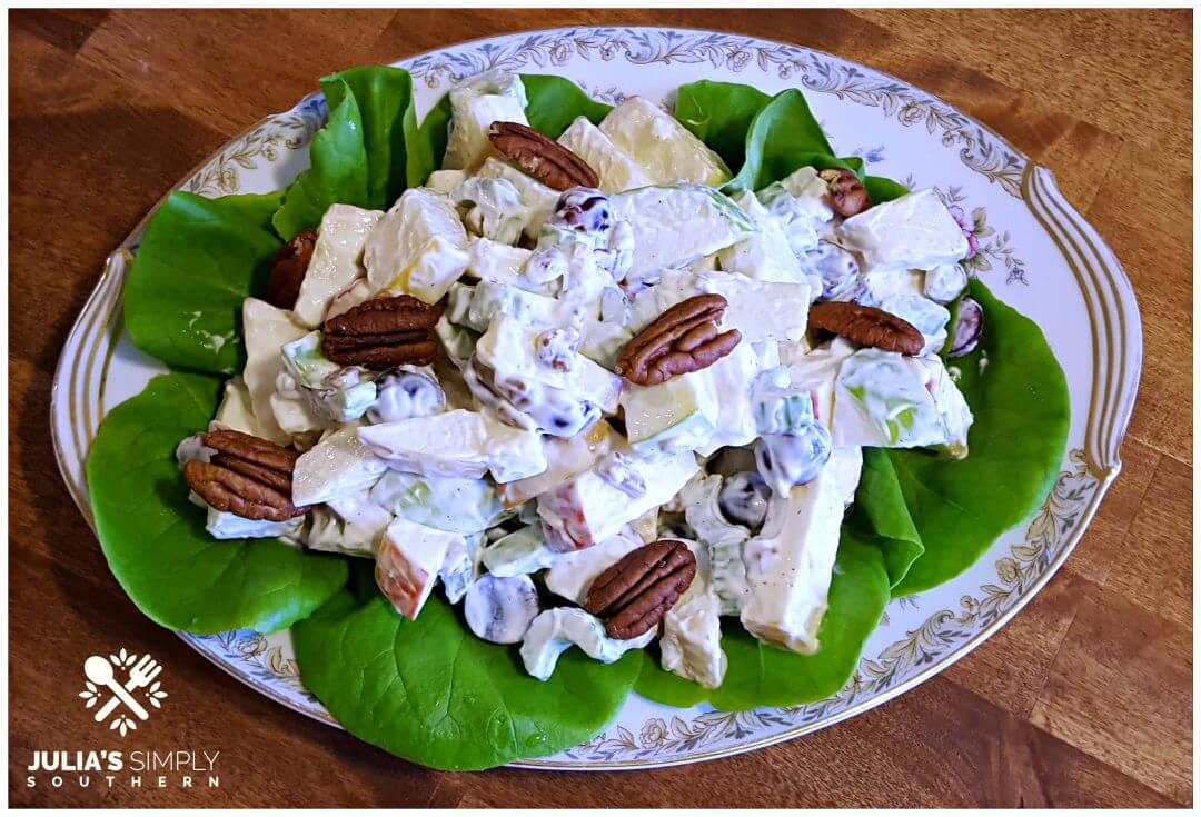 Traditional classic Waldorf Salad