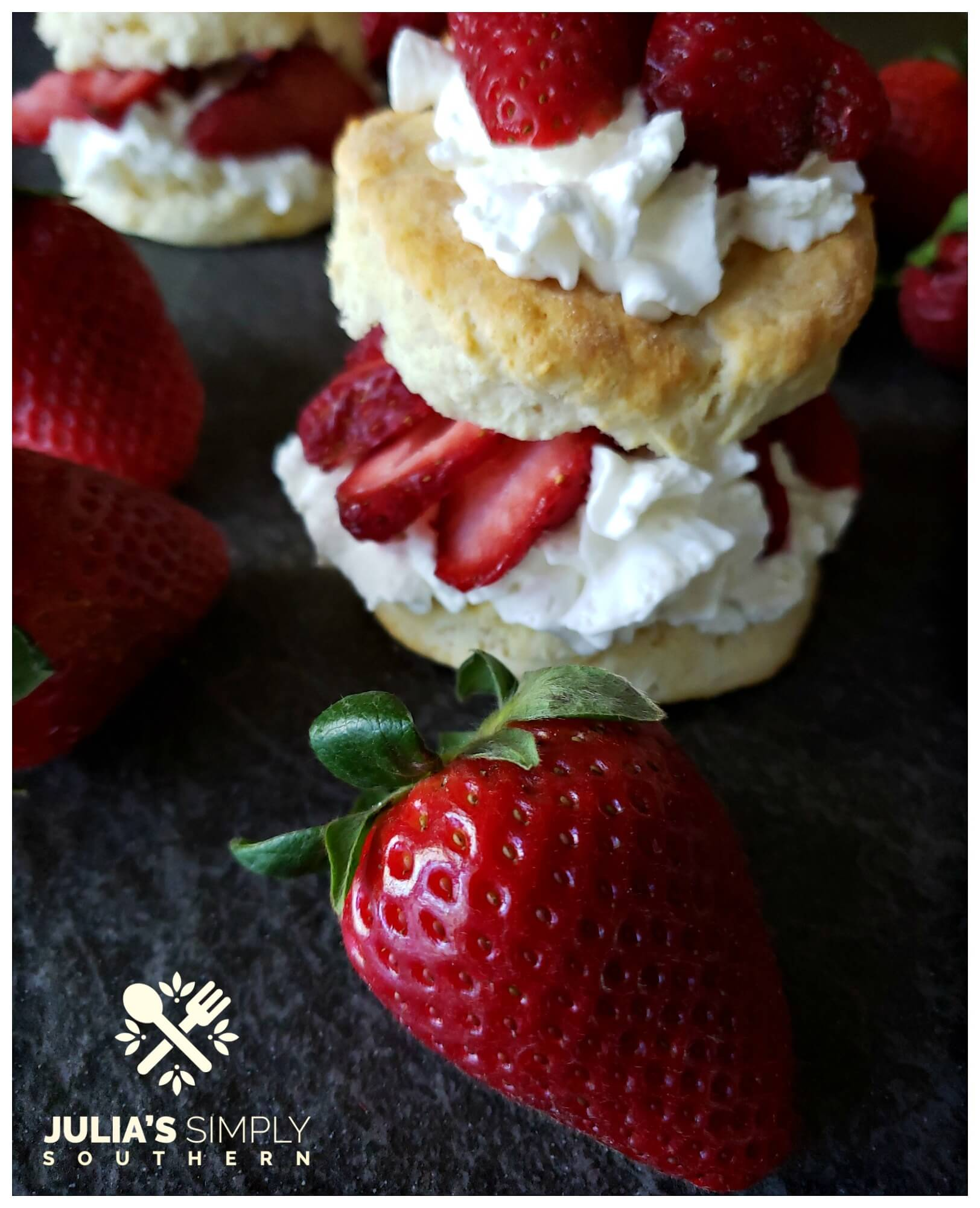 Easy strawberry shortcake - individual