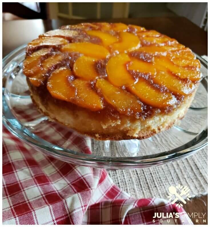 Perfect summer peach upside down cake