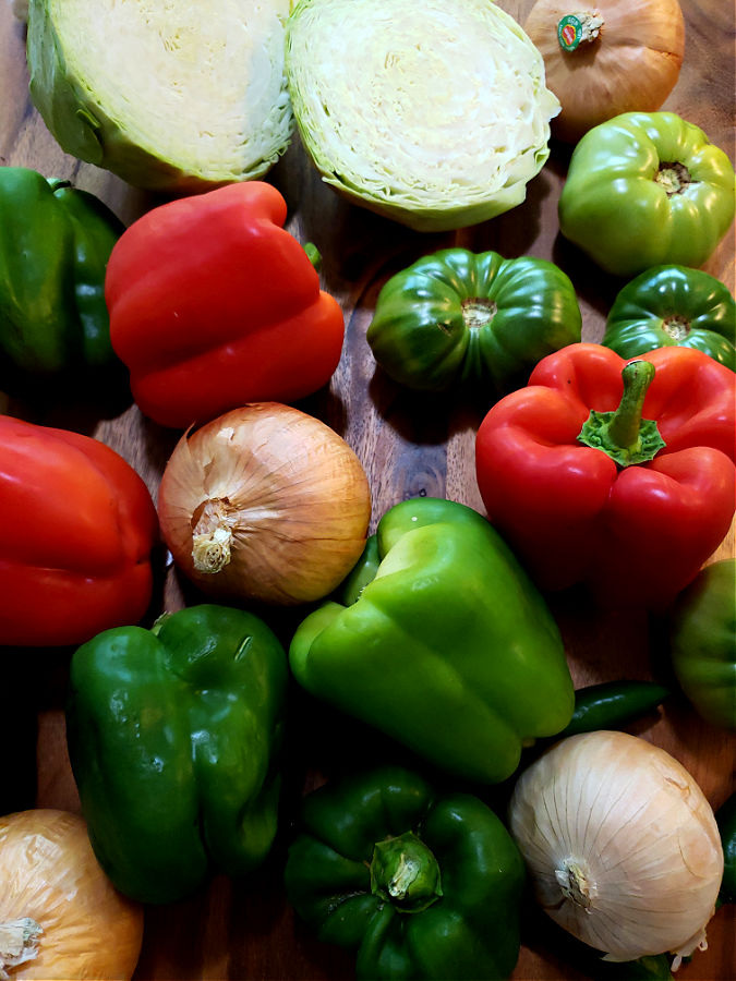 Vegetable ingredients for chow chow