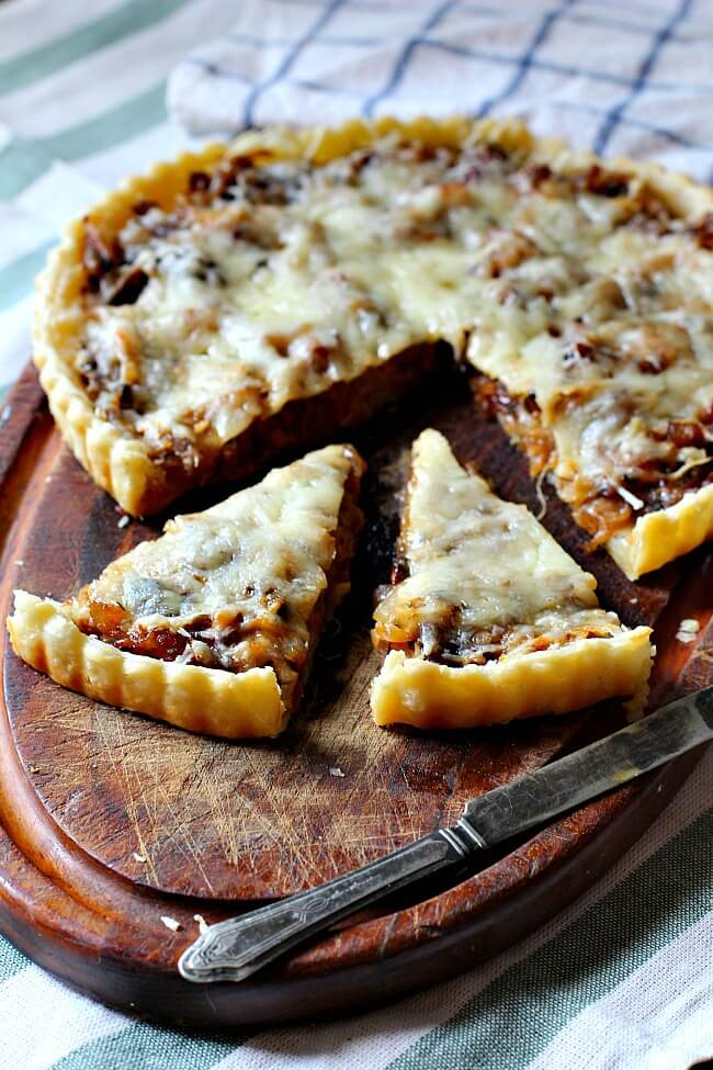 Caramelized Onion Tart - Cooking on the Ranch