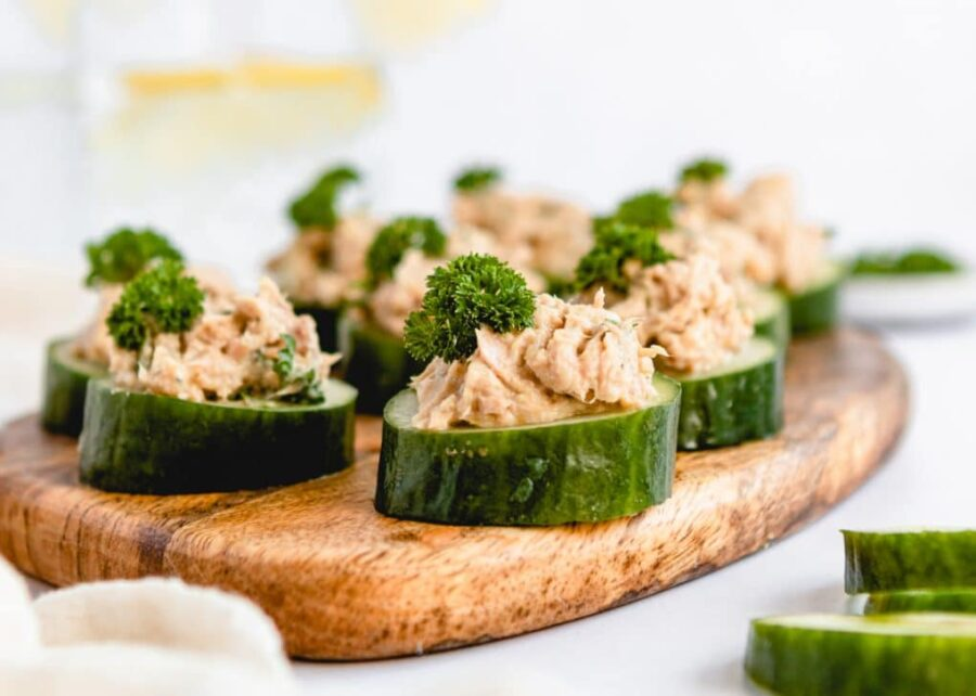 Cucumber Cups with Tuna