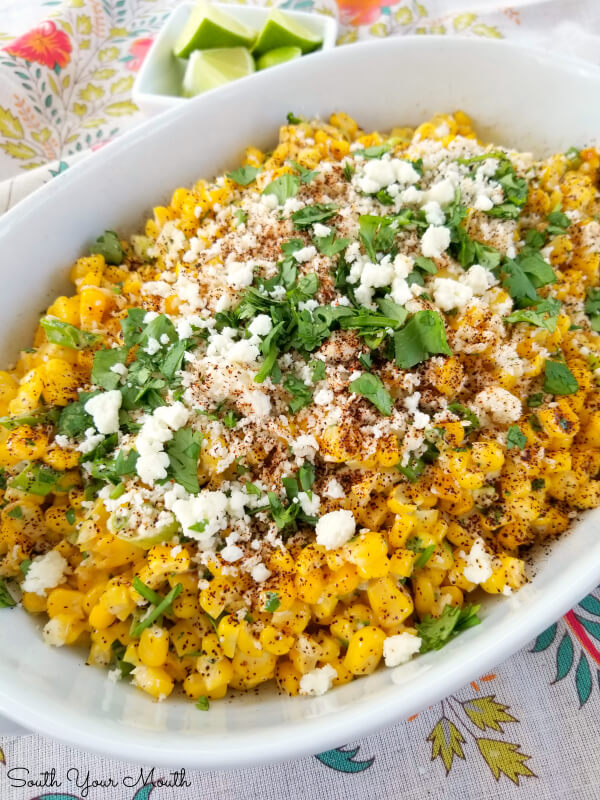 South Your Mouth - Mexican Street Corn (off the cob) Side Dish Recipe