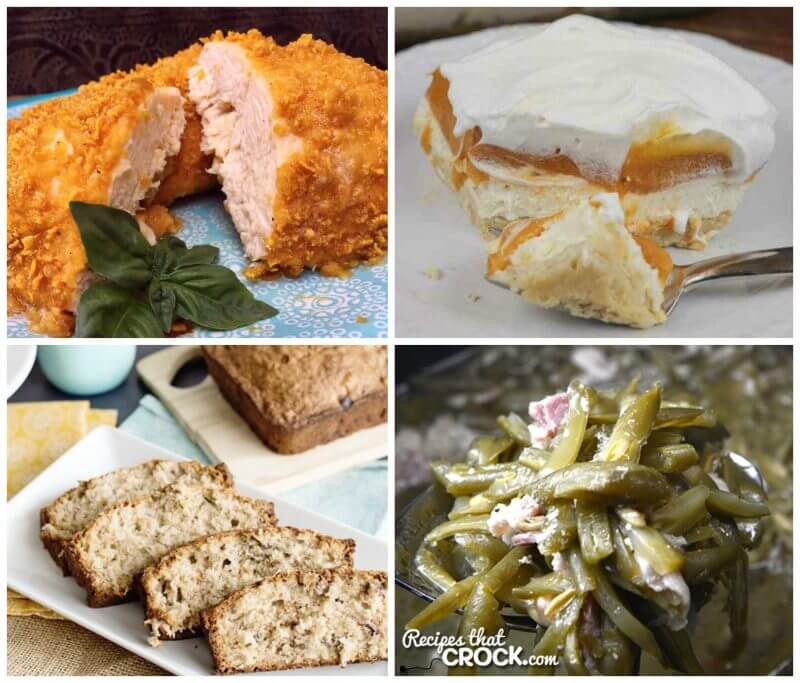 Meal Plan Monday #129 Hawaiian Nut Bread, Instant Pot Green Beans, Parmesan Oven Baked Chicken, Butterscotch Lush Dessert and over 100 NEW recipes shared by food bloggers to help you with your meal planning needs #MPM #MealPlanMonday #Recipes #MealPlan #FoodBloggers