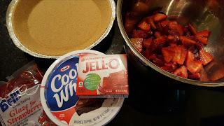no bake strawberry pie ingredients