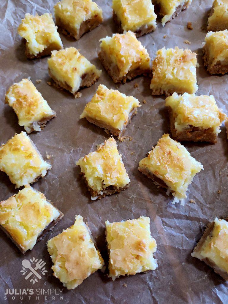 Granny's goody bars cut into small squares